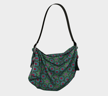Load image into Gallery viewer, The Sarah Origami Bag in Green-Clash Patterns