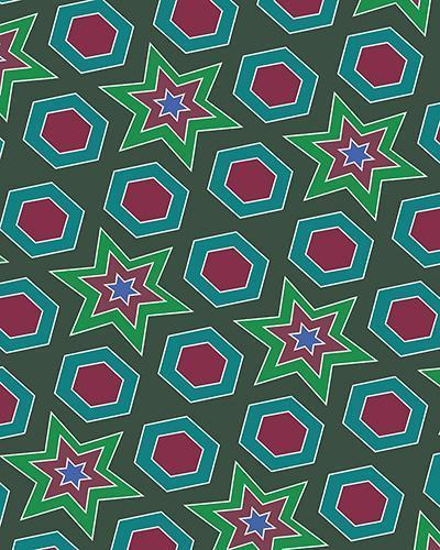 The Sarah Print-at-Home Art Print in Green - Digital Download-Clash Patterns