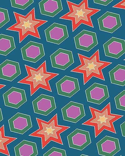 The Sarah Print-at-Home Art Print in Multicolour - Digital Download-Clash Patterns