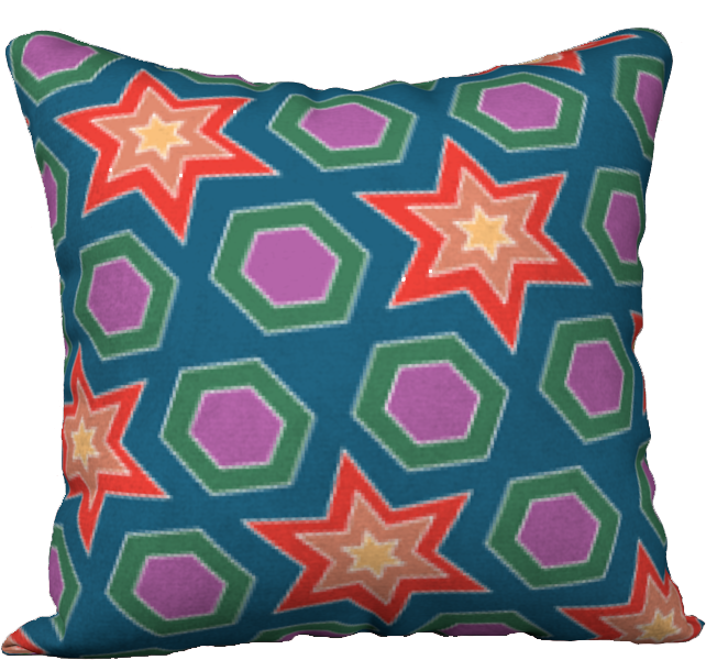 The Sarah Reversible Pillow in Multicolour