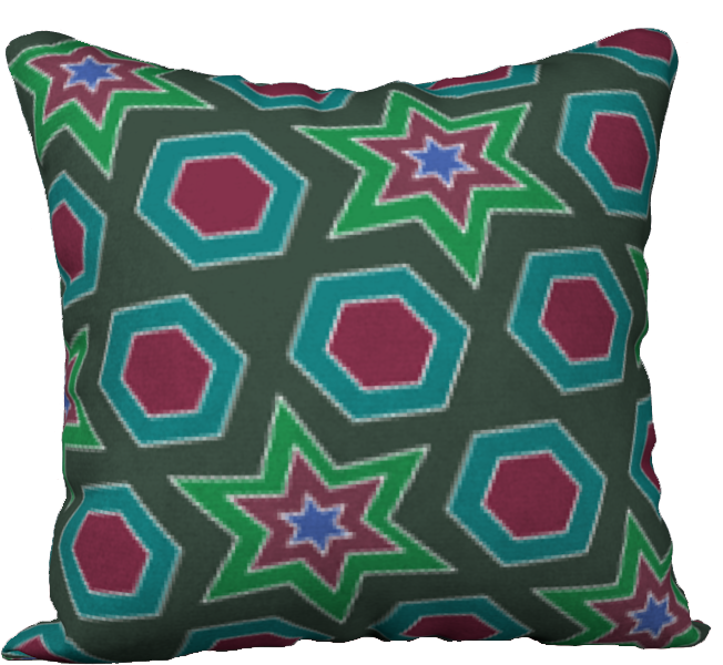 The Sarah Reversible Pillow in Green-18