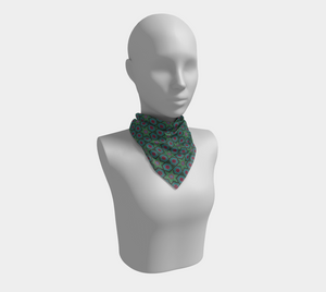 The Sarah Square Scarf in Green