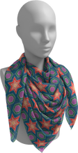 Load image into Gallery viewer, The Sarah Square Scarf-Square Scarf-Clash Patterns by Jennifer Akkermans