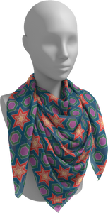 The Sarah Square Scarf in Multicolour