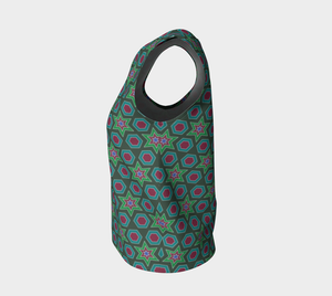 The Sarah Tank Top in Green-Clash Patterns