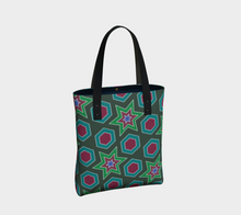 Load image into Gallery viewer, The Sarah Tote Bag in Green-Clash Patterns