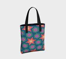 Load image into Gallery viewer, The Sarah Tote Bag in Multicolour-Clash Patterns