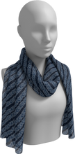 Load image into Gallery viewer, The Darlene Long Scarf in Navy