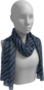 The Darlene Long Scarf in Navy