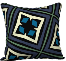 Load image into Gallery viewer, The Second Gia Reversible Pillow in Purple and Blue