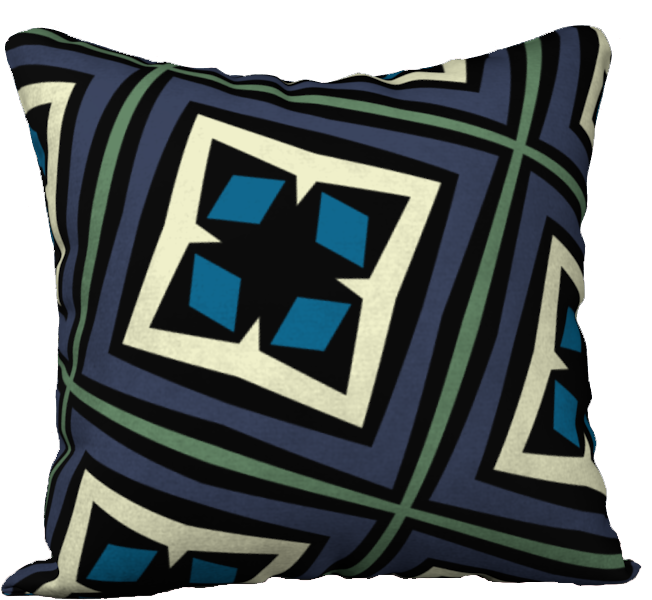 The Second Gia Reversible Pillow in Purple and Blue
