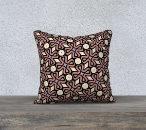 The Second Jane Reversible Pillow in Tuscany-Clash Patterns