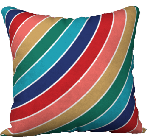 The Second Rainbow Pillow in Jewel Tones-18