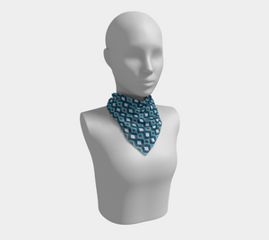 The Second Samantha Square Scarf in Blue