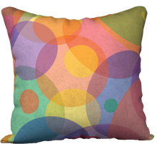 Load image into Gallery viewer, The Soft Rainbow Bubbles Reversible Pillow