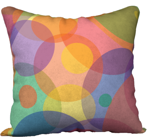 The Soft Rainbow Bubbles Reversible Pillow-18