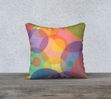 Load image into Gallery viewer, The Soft Rainbow Bubbles Reversible Pillow-Clash Patterns