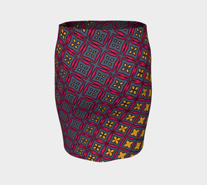 The Stacy Fitted Skirt-Clash Patterns