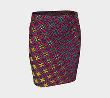 Load image into Gallery viewer, The Stacy Fitted Skirt-Clash Patterns