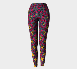 The Stacy Leggings-Clash Patterns