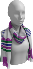 Load image into Gallery viewer, The Stripes and Circles Long Scarf