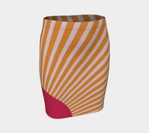 The Sunrise Fitted Skirt-Clash Patterns