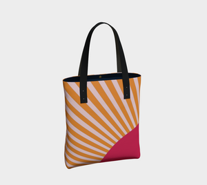 The Sunrise Tote Bag-Clash Patterns