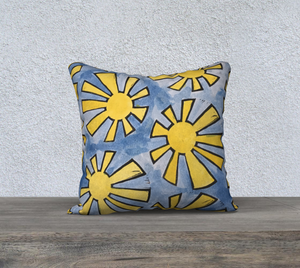 The Sunshine Watercolour Pillow-Clash Patterns