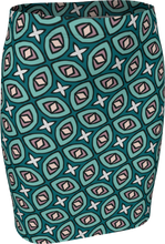 Load image into Gallery viewer, The Tera Fitted Skirt in Teal
