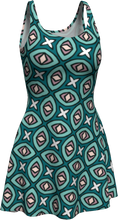 Load image into Gallery viewer, The Tera Flare Dress in Teal-Flare Dress-Clash Patterns by Jennifer Akkermans