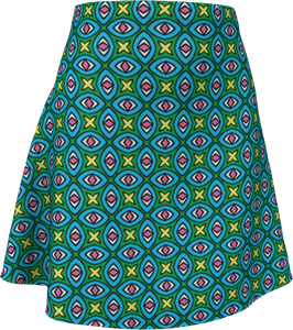 The Tera Flare Skirt in Bright