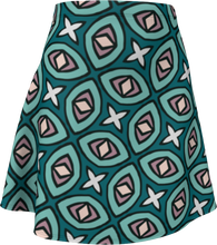 Load image into Gallery viewer, The Tera Flare Skirt in Teal
