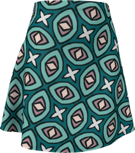 The Tera Flare Skirt in Teal