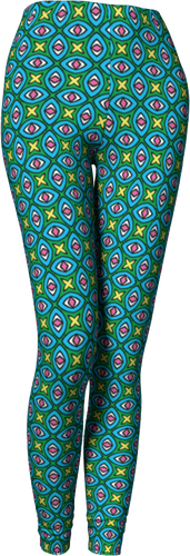 The Tera Leggings in Bright-Leggings-Clash Patterns by Jennifer Akkermans