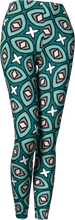 Load image into Gallery viewer, The Tera Leggings in Teal-Leggings-Clash Patterns by Jennifer Akkermans