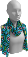 Load image into Gallery viewer, The Tera Long Scarf in Bright-Long Scarf-Clash Patterns by Jennifer Akkermans