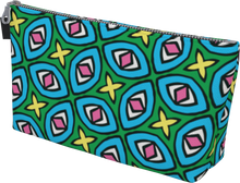 Load image into Gallery viewer, The Tera Makeup Bag in Bright-Makeup Bag-Clash Patterns by Jennifer Akkermans