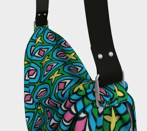 The Tera Origami Bag in Bright-Clash Patterns