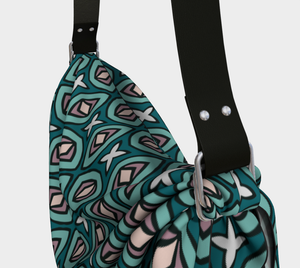 The Tera Origami Bag in Teal-Clash Patterns