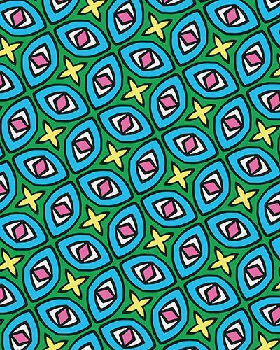 The Tera Print-at-Home Art Print in Bright - Digital Download-Clash Patterns