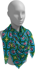 Load image into Gallery viewer, The Tera Square Scarf in Bright-Square Scarf-Clash Patterns by Jennifer Akkermans