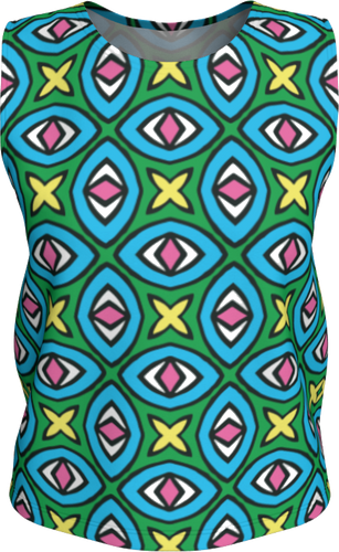 The Tera Tank Top in Bright-Loose Tank Top (Regular)-Clash Patterns by Jennifer Akkermans