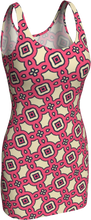 Load image into Gallery viewer, The Tiffany Fitted Dress in Pink Lemonade-Bodycon Dress-Clash Patterns by Jennifer Akkermans