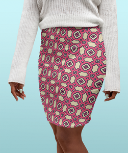 The Tiffany Fitted Skirt in Pink Lemonade