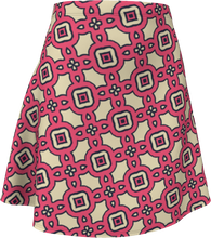 Load image into Gallery viewer, The Tiffany Flare Skirt in Pink Lemonade-Flare Skirt-Clash Patterns by Jennifer Akkermans