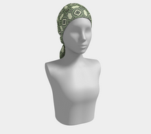 Load image into Gallery viewer, The Tiffany Long Scarf in Avocado Green-Clash Patterns