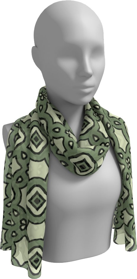 The Tiffany Long Scarf in Avocado Green