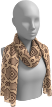Load image into Gallery viewer, The Tiffany Long Scarf in Coffee-Long Scarf-Clash Patterns by Jennifer Akkermans