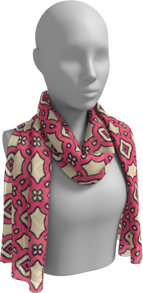 The Tiffany Long Scarf in Pink Lemonade