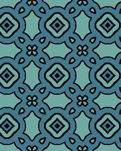 The Tiffany Print-at-Home Art Print in Blue - Digital Download-Clash Patterns